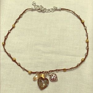 Brighton Karma Necklace with Crystal & Hearts